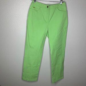 St. John Sport lime green high waist pants